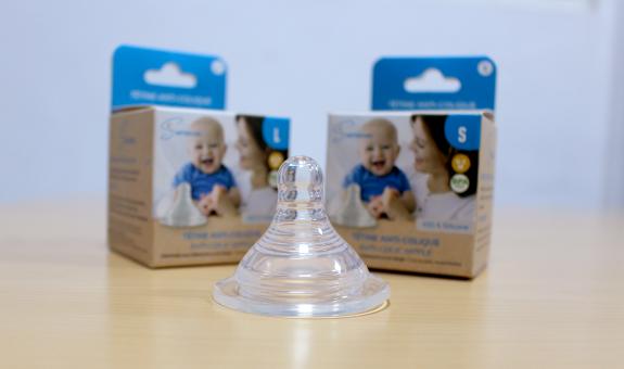 Tétine anti-colique en silicone, 0% PBA pour bébé allaité - Seinbiose-